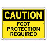 Vestil Caution Foot Protection Required