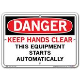 Vestil Danger Keep Hands Clear