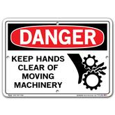 Vestil Danger Keep Hands Clear of Moving Machinery