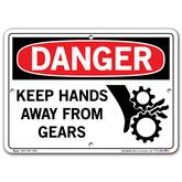 Vestil Danger Keep Hands Away from Gears