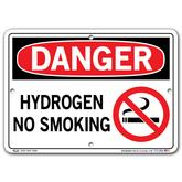 Vestil Danger Hydrogen No Smoking