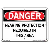 Vestil Danger Hearing Protection Required