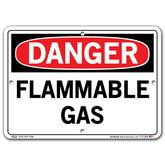 Vestil Danger Flammable Gas