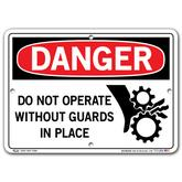 Vestil Danger Do Not Operate without Guards in Place