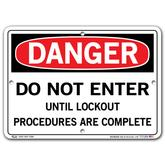 Vestil Danger Do Not Enter Until Lockout Procedures Are Complete