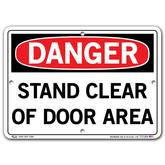 Vestil Danger Stand Clear of Door Area