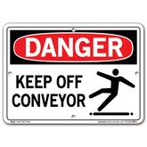 Vestil Danger Keep Off Conveyor