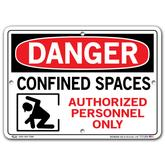 Vestil Danger Confined Space Authorized Personnel Only