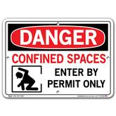 Vestil Danger Confined Space Enter By Permit Only