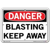 Vestil Danger Blasting Keep Away