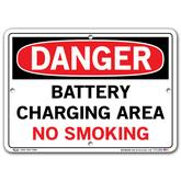 Vestil Danger Battery Charging Area No Smoking