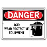 Vestil Danger Acid Wear Protective Equipment