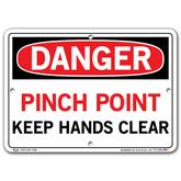 Vestil Danger Pinch Point Keep Hands Clear