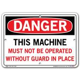 Vestil Danger This Machine Must Not Be Operated Without Guard In Place