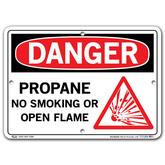 Vestil Danger Propane No Smoking or Open Flame