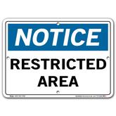 Vestil Notice Restricted Area
