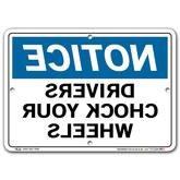 Vestil Mirrored Notice Drivers Chock Your Wheels