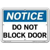 Vestil Notice Do Not Block Door