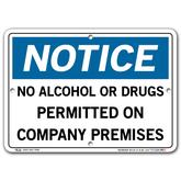Vestil Notice No Alcohol or Drugs Permitted on Company Premises