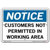 Vestil Notice Customers Not Permitted In Working Area