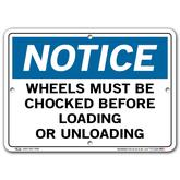 Vestil Notice Wheels Must Be Chocked