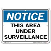 Vestil Notice This Area Under Surveillance