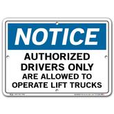Vestil Notice Authorized Drivers Only Are Allowed to Operate Lift Trucks