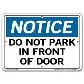 Vestil Notice Do Not Park In Front of Door