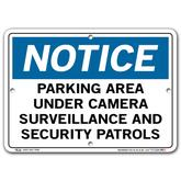 Vestil Notice Parking Area Under Camera Surveillance and Security Patrols