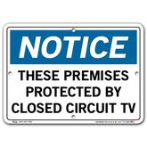 Vestil Notice These Premises Protected By Closed Circuit TV