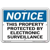 Vestil Notice This Property Protected By Electronic Surveillance