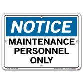 Vestil Notice Maintenance Personnel Only