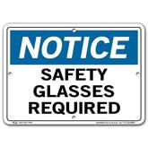Vestil Notice Safety Glasses Required
