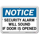 Vestil Notice Security Alarm Will Sound If Door Is Opened