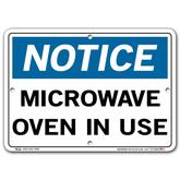 Vestil Notice Microwave Oven In Use