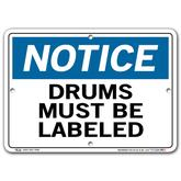 Vestil Notice Drums Must Be Labeled