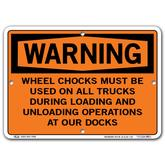 Vestil Warning Wheel Chocks Must Be Used On All Trucks