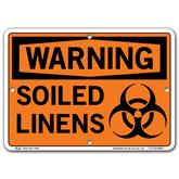 Vestil Warning Soiled Linens