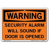 Vestil Warning Security Alarm Will Sound If Door Is Opened