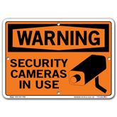 Vestil Warning Security Cameras In Use