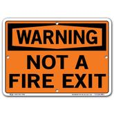 Vestil Warning Not a Fire Exit