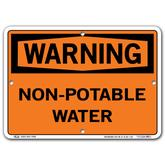 Vestil Warning Non-Potable Water