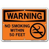 Vestil Warning No Smoking Within 50 Feet