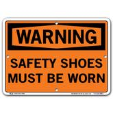 Vestil Warning Safety Shoes Must Be Worn