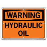 Vestil Warning Hydraulic Oil