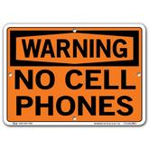 Vestil Warning No Cell Phones