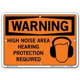 Vestil Warning High Noise Area Hearing Protection Required