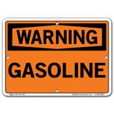 Vestil Warning Gasoline