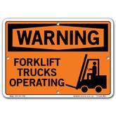 Vestil Warning Forklift Trucks Operating