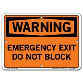 Vestil Warning Emergency Exit Do Not Block